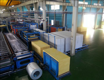 China Foaming Sandwich Panel Production Line  With PU Forming Density 40 kg / m3 supplier