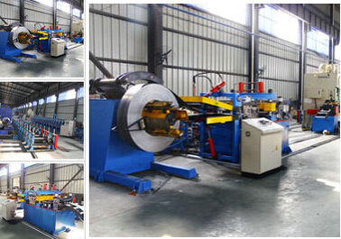 China Racking Sheet Metal Roll Forming Machines Adopts Track Cutting Technology supplier