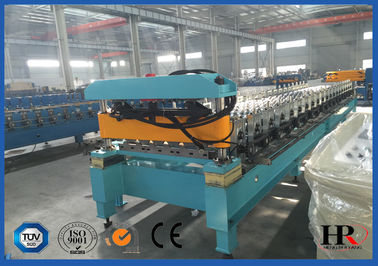 China Sturdy Construction Roof Roll Forming Machinery Automatically 12KW 10.5T supplier