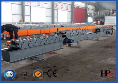 China Rolling Shutter Slat Sheet Metal Roll Forming Machines With Automatic Punching / Cutting supplier