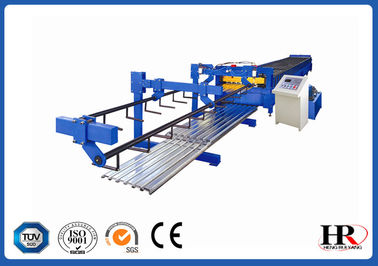 China Cheap Metal deck roll forming machine / Automatic Foot Plate Rolling Forming Machine supplier