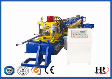 China Full Automatic Steel Channel Z Purlin Roll Forming Machine With Hydraulic Cutting supplier
