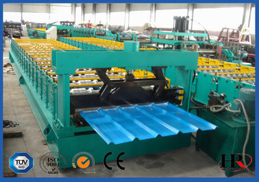 China Glazed Steel Corrugated Roof Sheet Making Machine 3 Phases PLC Control supplier