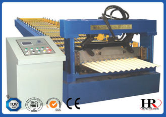 China Durable Roof Roll Forming Machine , Steel Colored Glazed Tile Making Machine supplier