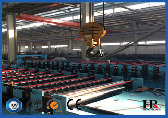 China Blue Metal Wall Panel Roll Forming Machine Cr12 Quenched Treatment supplier