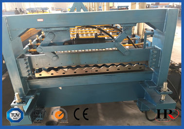 China Colored Glaze Steel Roof Roll Forming Machine 13 Rows 15 m / min supplier