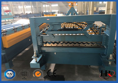 China Safe Cold Roll Forming Machine Blue For Pre Cutting Metal Sheets factory