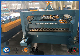 China Safe Cold Roll Forming Machine Blue For Pre Cutting Metal Sheets supplier