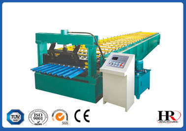 China 13m Length Color Sheet Roll Forming Line Digital Controlled 380V 60Hz supplier