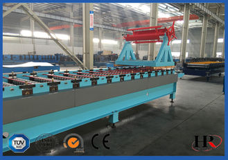 China 5.5KW 18 - 20 Stations Roof Roll Forming Machine For Construction supplier