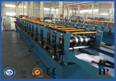 China Gutter Style Ridge Cap Roll Forming Machine Roof Flashing Profile supplier