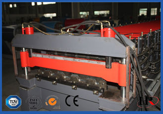 China Blue Color High Strength Metal Deck Roll Forming Machine Big Wave Length supplier