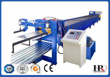 China 18.5 KW Metal Deck Roll Forming Machine High Strength with Big Rib supplier