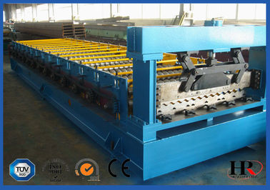 China Water Proof Steel Tile Roll Forming Machine / Metal Roll Forming Systems supplier