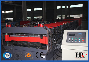 China High Tech Double Deck Cold Roll Forming Machine for Making Two Types Roof Panels factory