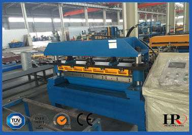 China Pre-cutting Sheet Metal Cold Roll Forming Machine With Gear / Sprocket Driving supplier