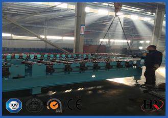 China Roofing / Wall Panel Sheet Metal Roll Forming Machines With Upright Columns factory