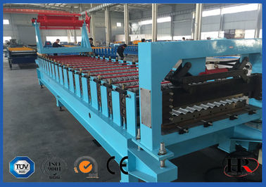 China Galvanized Steel Roof Roll Forming Machine Roofing Sheet Production Machines supplier
