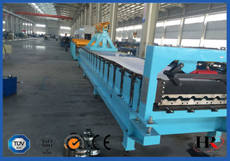 China Small Corrugated Sheet Metal Roof  Roll Forming Machine / Roof Panel Making Machine supplier