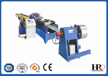 China Custom Made C / Z Purpline Cold Roll Forming Machine with 10 Rolling Stations factory