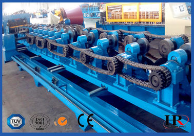 China Semi Automatic ZUC Hat Profile Purlin Roll Forming Machine With CE / SGS / ISO supplier