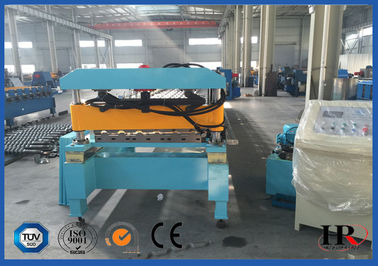 China Coated Sheet Steel Cold Roll Forming Machine With Touch Screen PLC Frequency Control factory
