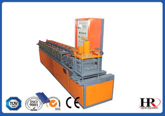 China High Capacity PLC Control Metal Door Shutter Door Cold Roll Forming Machine , Sheet Metal Roll Former factory