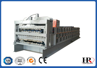 China Automatic three layers roof sheet color corrugated roof tile roll forming machine supplier