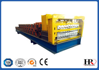 China three layer corrugated and ibr metal roof sheet cold roll forming machine supplier