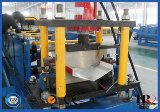 China Roof Valley Flashing Roll Forming Machine , Roof Ridge Cap Roll Forming Line supplier