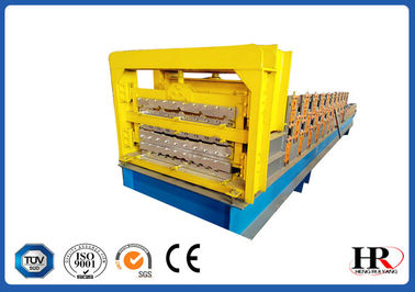 China Three Layer Roofing Panel Roll Forming Machine / Metal Tile Extrusion Line supplier