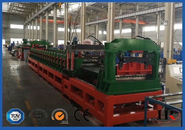 China PLC System Steel Corrugated Side Panel Silo Roll Forming Machine High Speed 12-15m / Min supplier