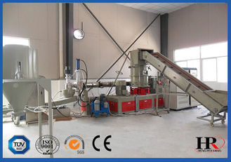 China Single Screw Waste Plastic Recycling Machine , Plastic Recycling Granulator Machine PP / PE supplier