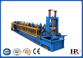 China Automatic High Speed Interchangeable CZ Purlin Roll Forming Machine supplier