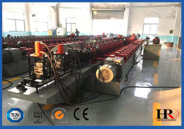 China Full Automatic Steel Door Frame Roll Forming Machine With Hydraulic Cutting supplier