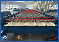 China PLC Controller Roof Panel Roll Forming Machine With Manual Passive Decoiler 5.5KW factory