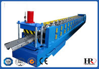 China Highway Guardrail Roll Forming Machine, W Beam Roll Forming Line Chain Transmission factory