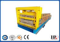 China Three Layer Roofing Panel Roll Forming Machine / Metal Tile Extrusion Line factory