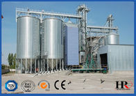 China Galvanized Corrugated Bolted Assembly Steel Silo Machine , Grain Storage Silo Bin factory