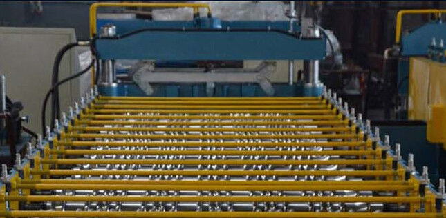 Hydraulic Press Sheet Metal Roll Forming Machines For Roof Tile supplier
