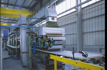 40mm Thickness Corrugated Sandwich Panel  Production Line  With 3m Mini Cutting Length supplier