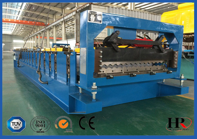 Corrugated Steel Sheet Cold Roll Forming Machine / Tile Making Machine supplier