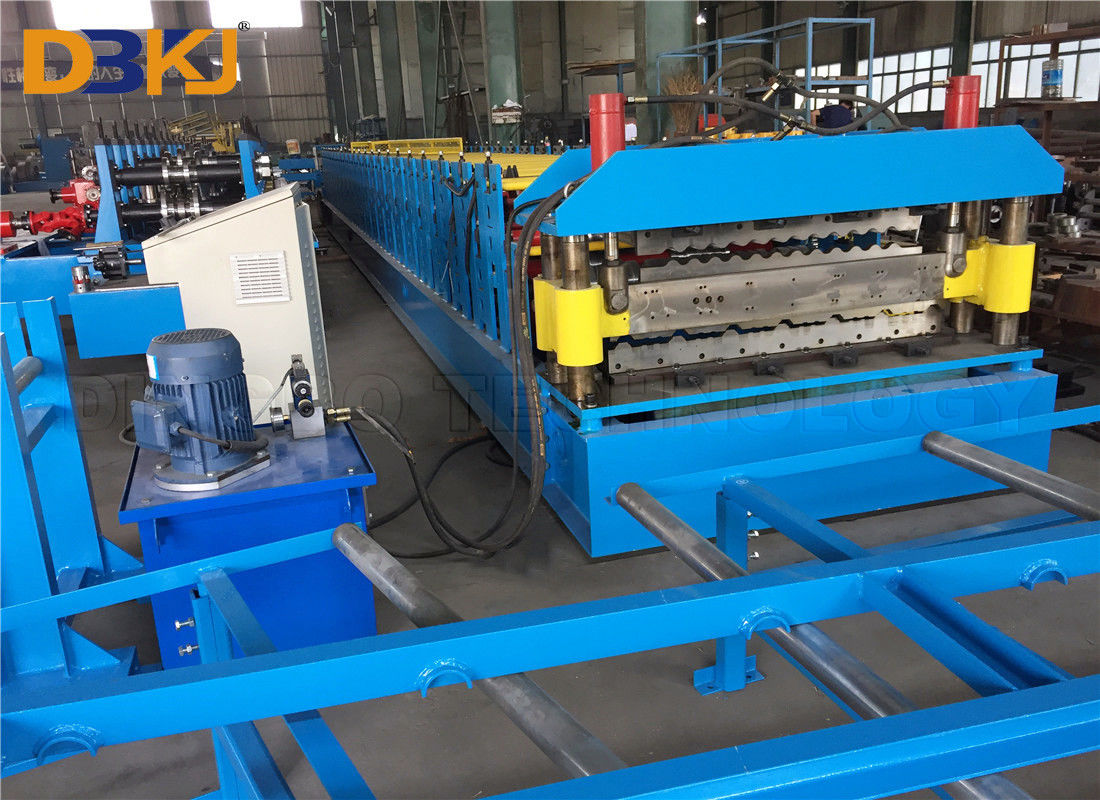IBR And Corrugated Double Layer Roof Roll Forming Machine with Colored And Galvanized Steel Sheet