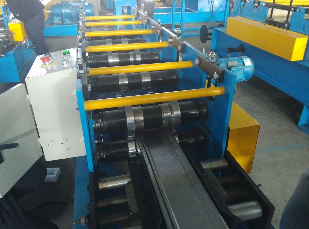 Shelving Rack Pallet Rack Step Beam Roll Forming Machine , Cold Roll Forming Equipment supplier