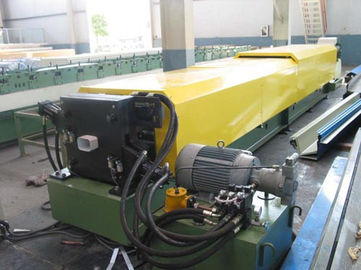 China Strong Electric Controlling Gutter Roll Forming Machine Downspout Machine factory