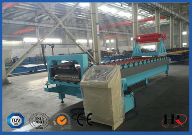 China CNC Control Steel Roof Roll Forming Machine Roofing Sheet Making Machine distributor
