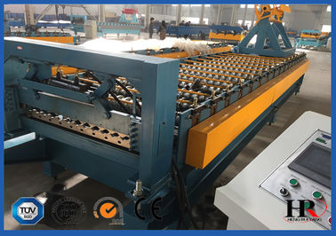 China Durable Roofing Corrugated Sheet Roll Forming Machine High Speed For Roof Panel distributor