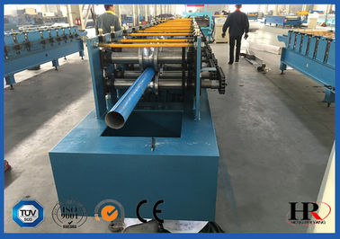 China 4kw Rain Gutter Roll Forming Machine For K Style Gutter / Half Round Gutter distributor