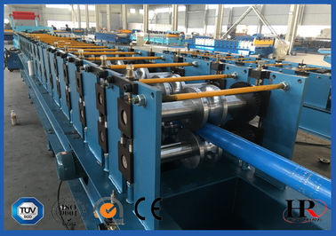 China Round Downpipe / Downspout Roll Forming Machine 0.4 - 0.6 mm Sheet Thickness distributor
