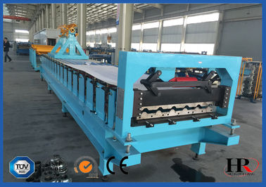 China Hydraulic Cutting Intelligent Steel Roofing Tile Forming Machine With Yakamas Drive distributor